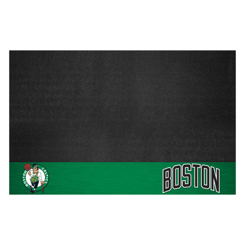 """26"""" x 42"""" Green and Black NBA Boston Celtics Grill Outdoor Tailgate Mat - IMAGE 1"""