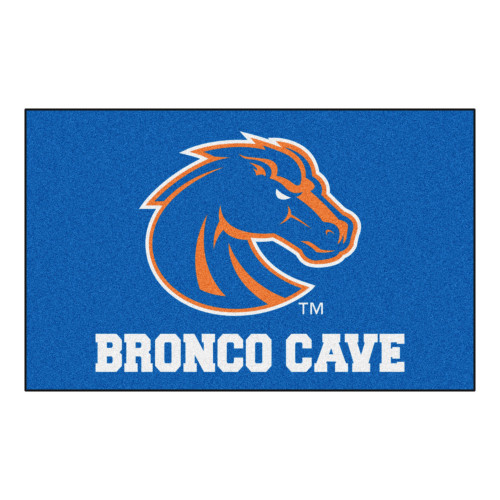 """59.5"""" x 94.5"""" Blue and Orange NCAA Boise State University Broncos Outdoor Tailgater Area Rug - IMAGE 1"""