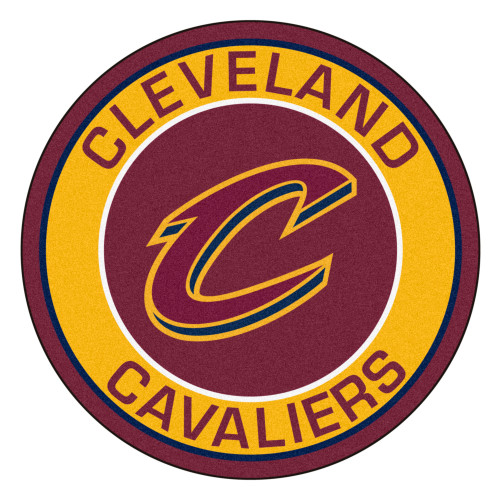 """27"""" Red and Yellow NBA Cleveland Cavaliers Rounded Door Mat - IMAGE 1"""