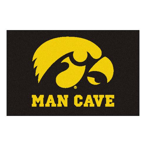 "19"" x 30"" Gold and Black NCAA University of Iowa Hawkeyes Man Cave Starter Mat - IMAGE 1"