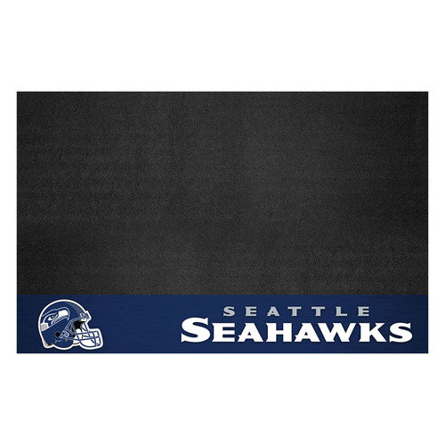 """26"""" x 42"""" Black and Blue NFL Seattle Seahawks Grill Mat Tailgate Accessory - IMAGE 1"""