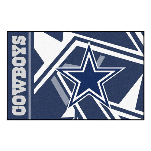 "30"" NFL Dallas Cowboys Starter Mat Rectangular Area Throw Rug - IMAGE 1"