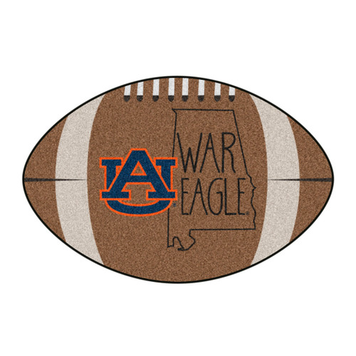 """20.5"""" x 32.5"""" Brown and White NCAA Auburn University Tigers Mat Area Rug - IMAGE 1"""