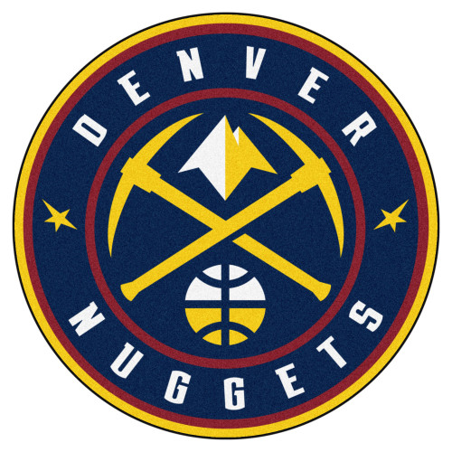 """27"""" Blue and Yellow NBA Denver Nuggets Rounded Door Mat - IMAGE 1"""