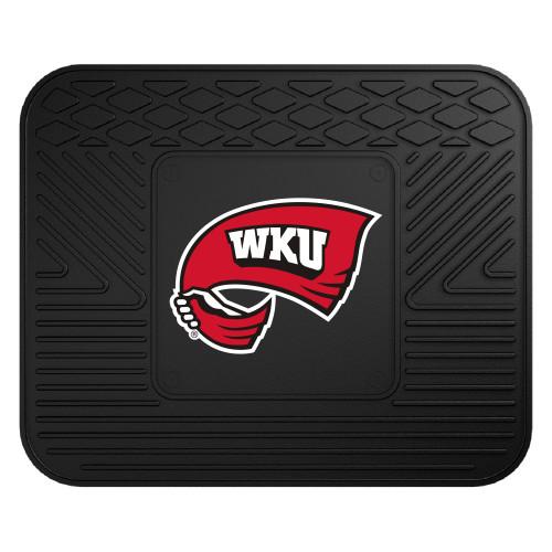 "17""x14"" NCAA Western Kentucky University Hill topper Black Car Seat Utility Mat - IMAGE 1"