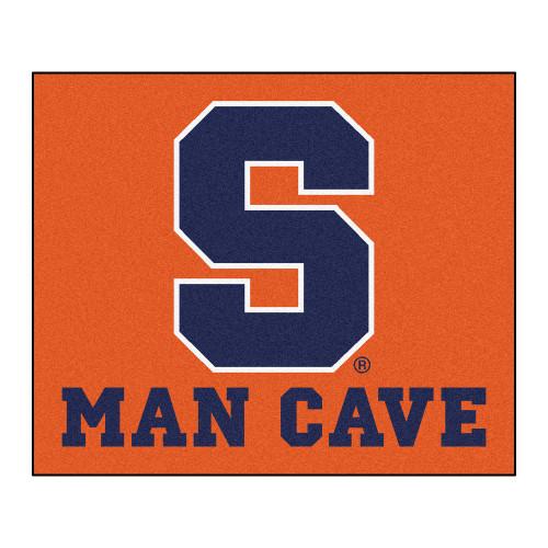 4.9' x 5.9' Blue NCAA Syracuse University Orange Man Cave Tailgater Rectangular Area Rug - IMAGE 1