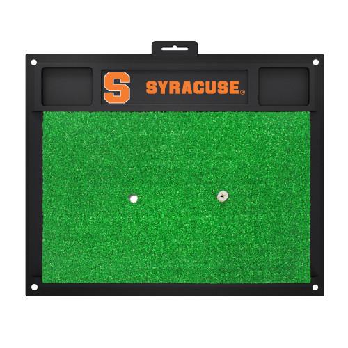 "17"" x 20"" Black and Green NCAA Syracuse University Orange Golf Hitting Mat - IMAGE 1"