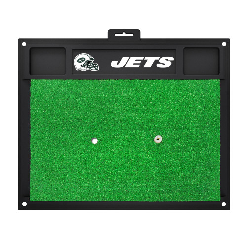 """20"""" x 17"""" Black and Green NFL New York """"Jets"""" Golf Hitting Mat Practice Accessory - IMAGE 1"""
