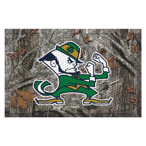 """19"""" x 30"""" Green and Gray NCAA Notre Dame Fighting Irish Shoe Scraper Door Mat - IMAGE 1"""