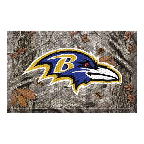 """19"""" x 30"""" Gray and Blue NFL Baltimore Ravens Shoe Scraper Door Mat - IMAGE 1"""