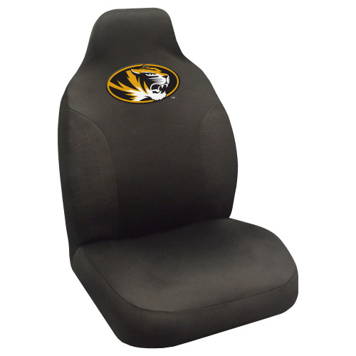 """20"""" x 48"""" Black and Yellow NCAA University of Missouri Tigers Seat Cover Automotive Accessory - IMAGE 1"""