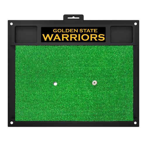 """20"""" x 17"""" Green NBA Golden State Warriors Golf Hitting Practice Mat - IMAGE 1"""