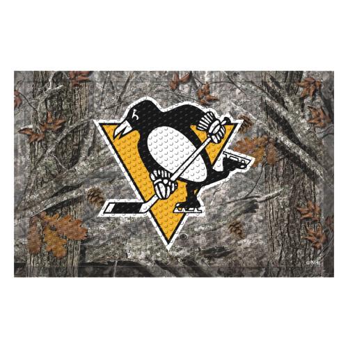 "19"" x 30"" Brown and Yellow NHL Pittsburgh Penguins Shoe Scraper Doormat - IMAGE 1"