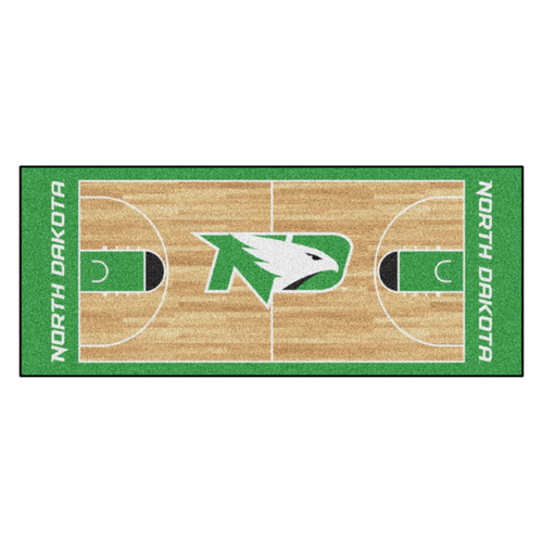 "30"" x 72"" Green NCAA University of North Dakota Fighting Hawks Man Cave Tailgater Area Rug - IMAGE 1"