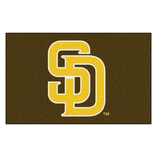 5' x 8' Yellow Contemporary MLB San Diego Padres Rectangular Outdoor Area Rug - IMAGE 1