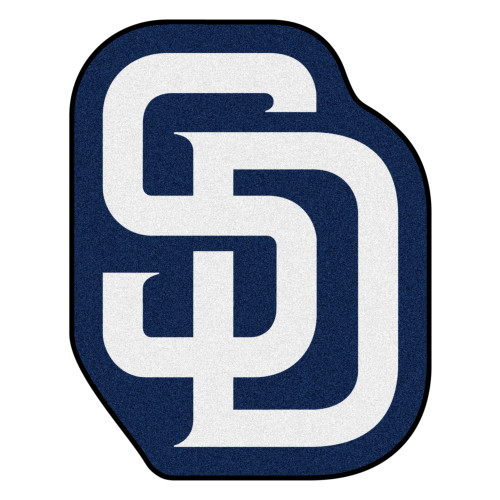 "30"" x 38"" Blue and White MLB San Diego Padres Mascot Novelty Logo Door Mat - IMAGE 1"