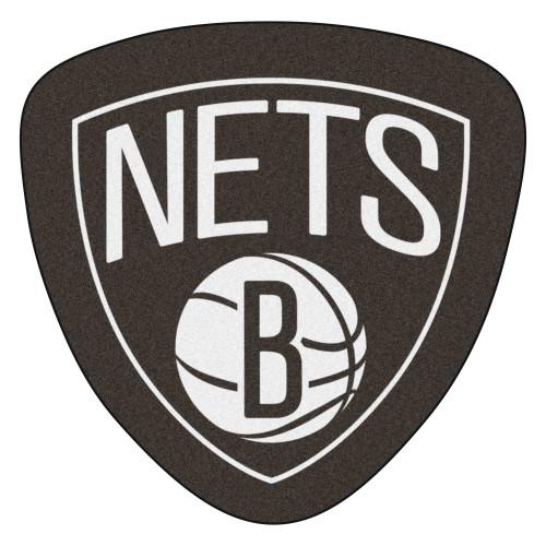 "36"" x 35.8"" Black and White NBA Brooklyn Nets Mascot Door Mat - IMAGE 1"