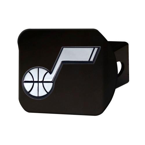 NBA Utah Jazz Black Hitch Cover Automotive Accessory - IMAGE 1