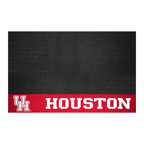 """26"""" x 42"""" Black and Red NCAA University of Houston Cougars Grill Mat Tailgate Accessory - IMAGE 1"""