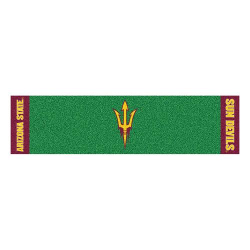 "18"" x 72"" Green NCAA Arizona State University Sun Devils Putting Golf Mat Area Rug Runner - IMAGE 1"