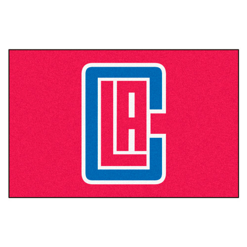 """19"""" x 30"""" Red and White NBA Los Angeles Clippers Starter Door Mat - IMAGE 1"""