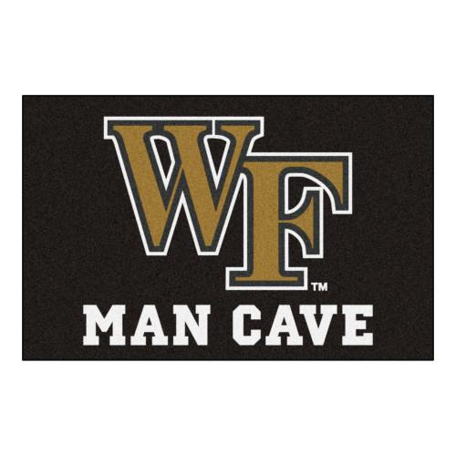 "19"" x 30"" Black and Yellow NCAA Wake Forest University Demon Deacons Starter Rectangular Door Mat - IMAGE 1"