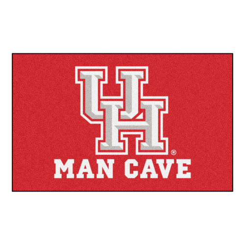 """59.5"""" x 94.5"""" Red and White NCAA University of Houston Cougars Area Rug - IMAGE 1"""
