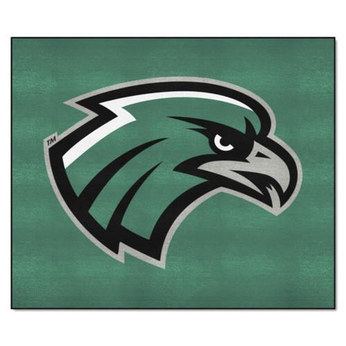 5' x 6' Black and White NCAA Northeastern State University Riverhawks Rectangular Outdoor Area Rug - IMAGE 1