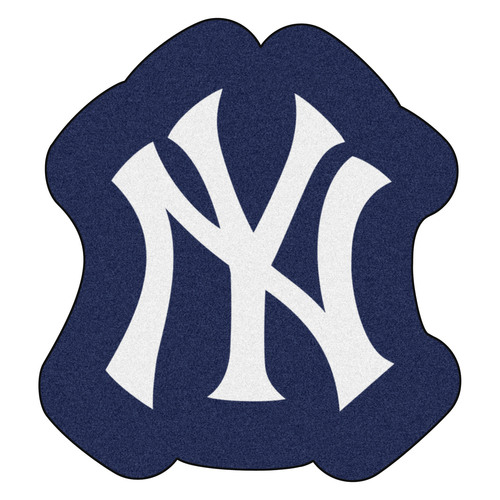 "30"" x 32.75"" Blue and White MLB New York Yankees Mascot Novelty Logo Door Mat - IMAGE 1"