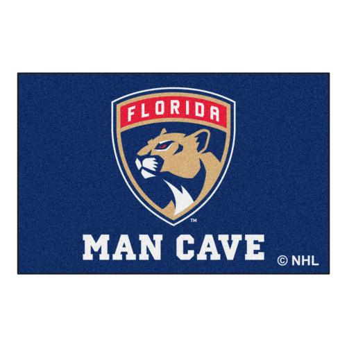 "19"" x 30"" Blue and White NHL Florida Panthers ""Man Cave"" Starter Door Mat - IMAGE 1"