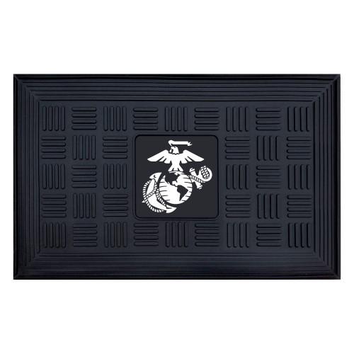 "19.5"" x 31.25"" Gray US Marines 3-D Team Medallion Rectangular Door Mat - IMAGE 1"