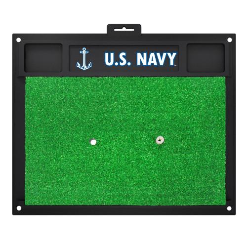 "17"" x 20"" Black and Green NBA U.S. Navy Golf Hitting Mat - IMAGE 1"