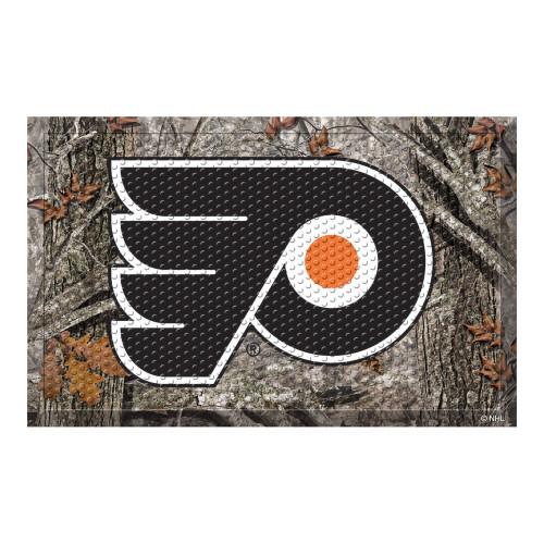 "19"" x 30"" Brown and Black NHL Philadelphia Flyers Shoe Scraper Doormat - IMAGE 1"