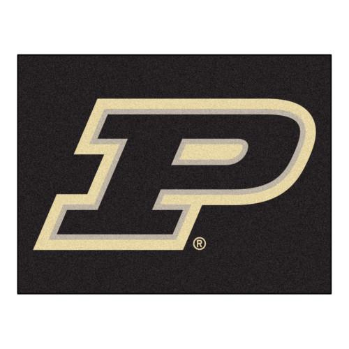 "33.75"" x 42.5"" Black NCAA Purdue University Boilermakers All Star Non-Skid Rectangular Area Rug - IMAGE 1"