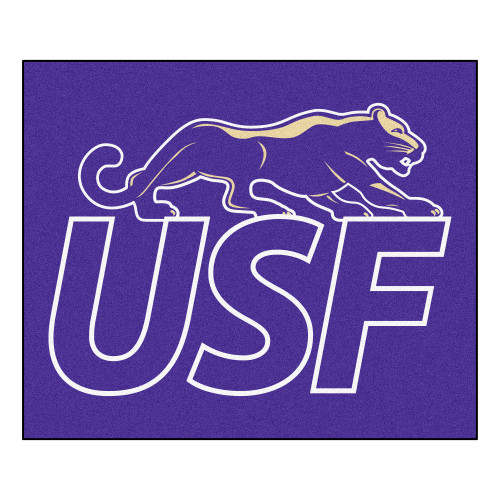 """59.5"""" x 71"""" Purple NCAA University of Sioux Falls Cougars Tailgater Outdoor Area Rug - IMAGE 1"""
