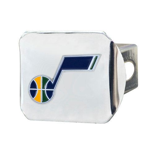 """4"""" Silver NBA Utah Jazz Color Class III Hitch Cover Auto Accessory - IMAGE 1"""