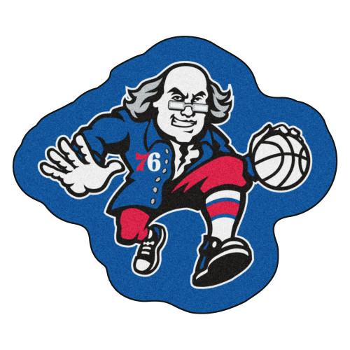 "36"" x 30.8"" Blue and Red NBA Philadelphia 76ers Mascot Door Mat - IMAGE 1"