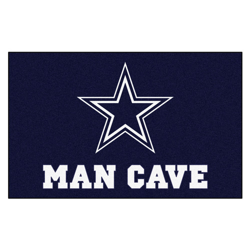 """59.5"""" x 94.5"""" Blue and White NFL Dallas Cowboys """"Man Cave"""" Area Rug - IMAGE 1"""