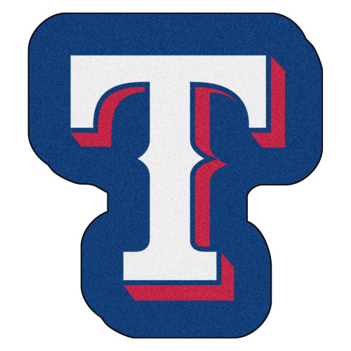 "30"" x 33"" Blue and White MLB Texas Rangers Mascot Novelty Logo Door Mat - IMAGE 1"
