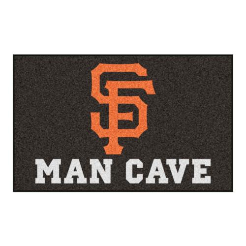 "59.5"" x 94.5"" Orange MLB San Francisco Giants Man Cave Ulti-Mat Rectangular Mat Area Rug - IMAGE 1"