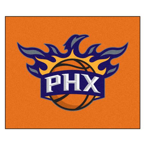 "59.5"" x 71"" Orange and Blue NBA Phoenix Suns Rectangular Tailgater Mat Outdoor Area Rug - IMAGE 1"