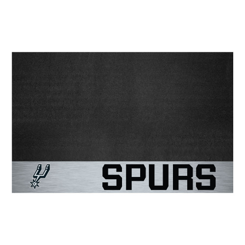 """26"""" x 42"""" Gray and Black NBA San Antonio Spurs Grill Outdoor Tailgate Mat - IMAGE 1"""