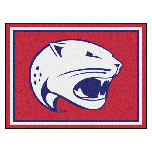 8' x 10' Red and White NCAA University of South Alabama Jaguars Non-Skid Area Rug - IMAGE 1