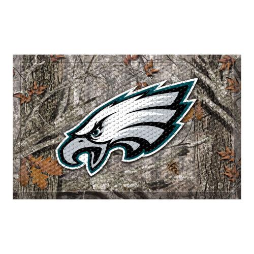 "Gray and White NFL Philadelphia Eagles Shoe Scraper Doormat 19"" x 30"" - IMAGE 1"