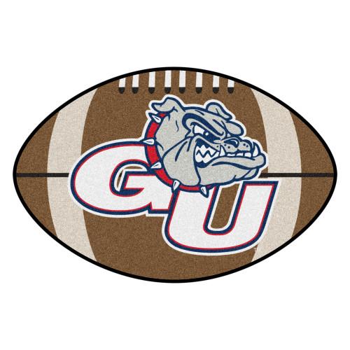 NCAA Gonzaga University Bulldogs Football Shaped Mat Area Rug - IMAGE 1