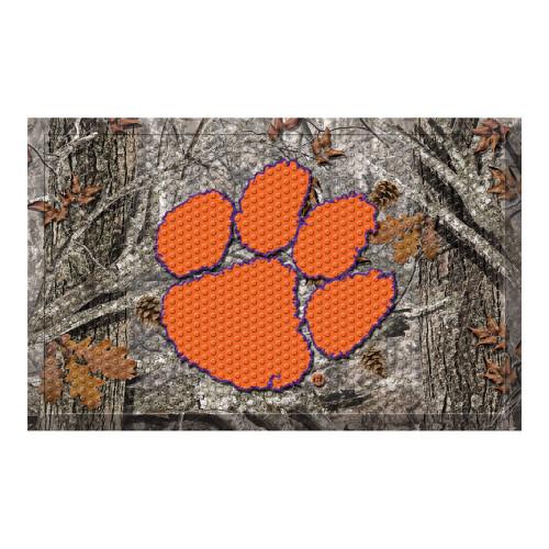 """19"""" x 30"""" Gray and Orange NCAA Clemson University Tigers Scraper Rectangular Door Mat - IMAGE 1"""