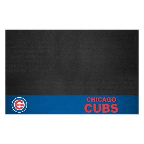 "26"" x 42"" Black and Blue MLB Cubs Grill Mat Tailgate Accessory - IMAGE 1"