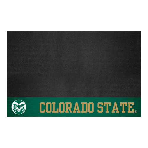 """26"""" x 42"""" Black and Green NCAA Colorado State University Rams Grill Mat Tailgate Accessory - IMAGE 1"""
