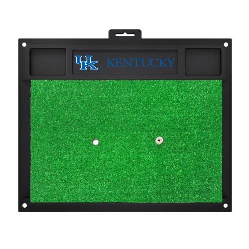 "20"" x 17"" Black and Green NCAA University of ""Kentucky"" Wildcats Golf Hitting Mat Practice Accessory - IMAGE 1"