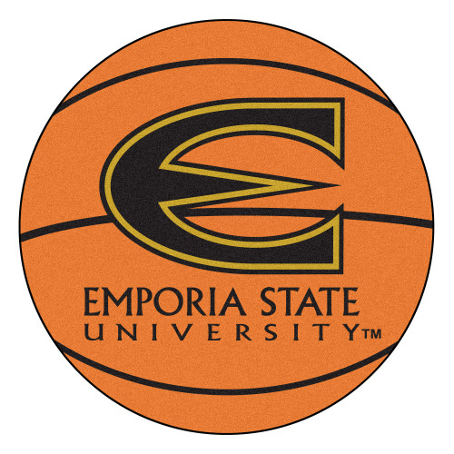 "27"" Orange and Black NCAA Emporia State University Hornets Basketball Mat - IMAGE 1"